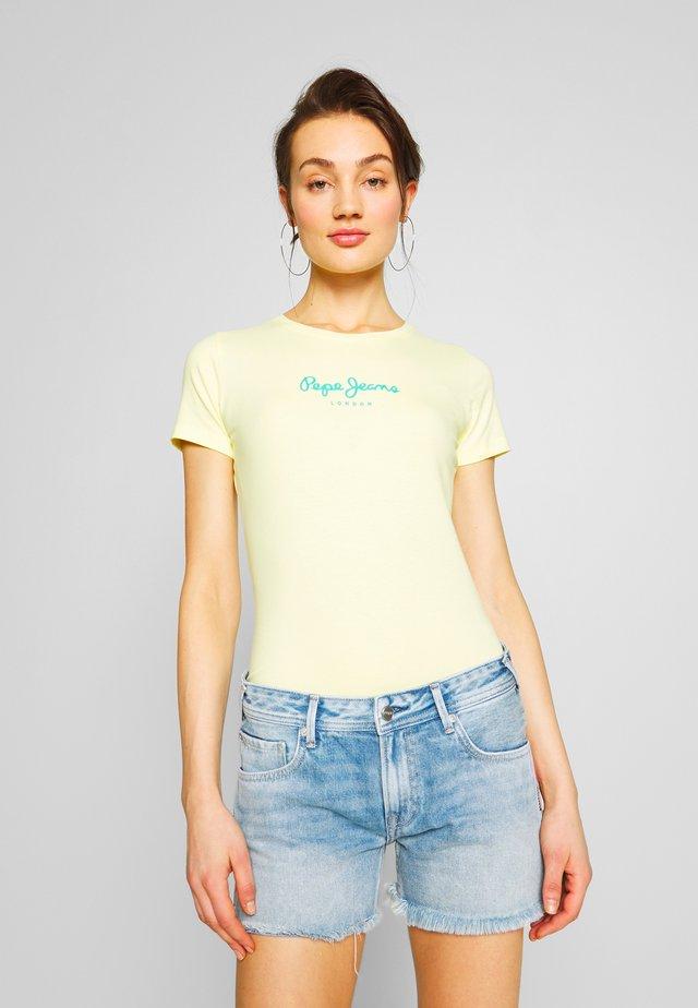 VIRGINIA NEW - Camiseta estampada - lemon