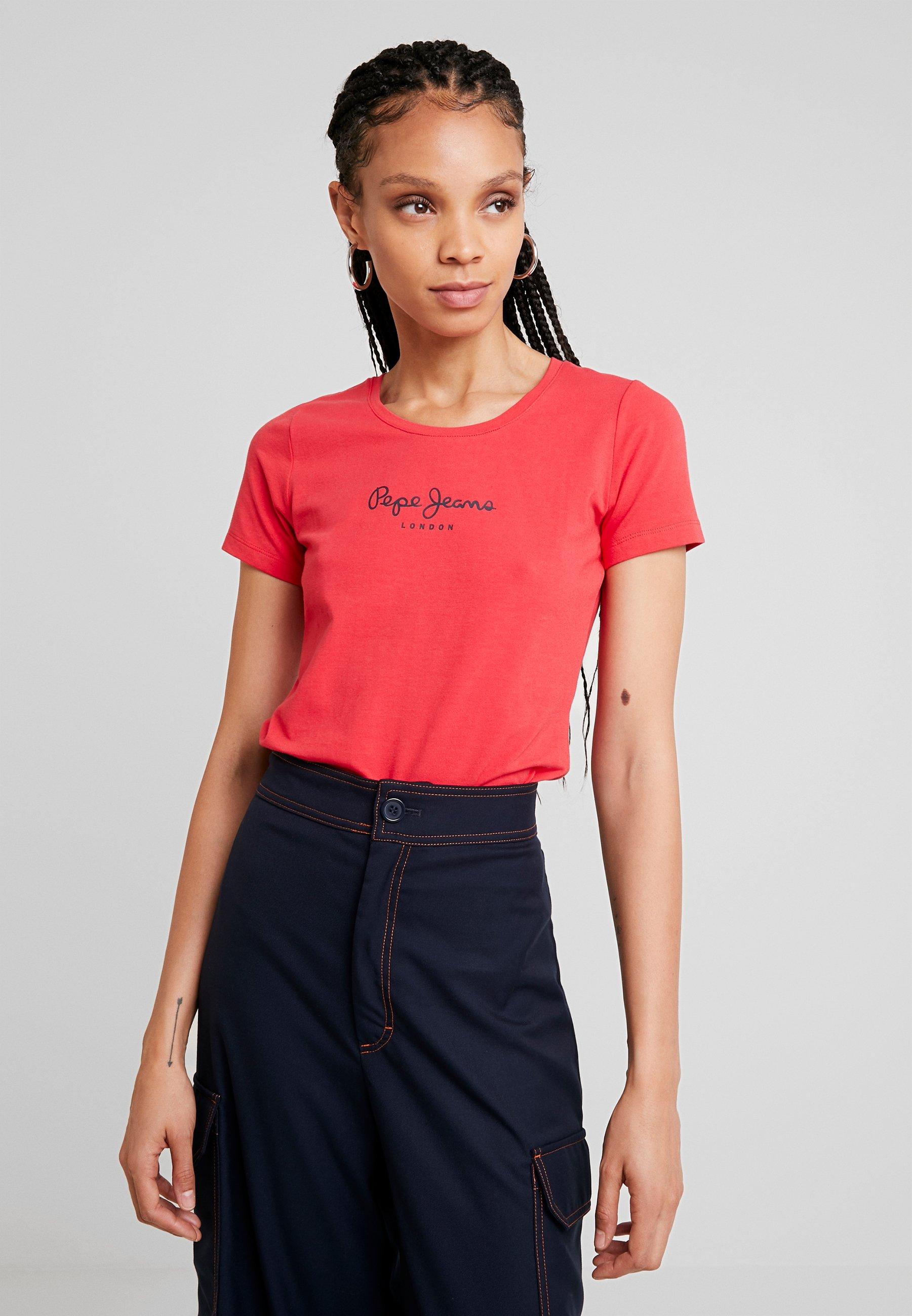 shirt Red Jeans Virginia NewT Lipstick Imprimé Pepe Aq345RLj