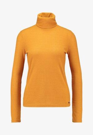 Long sleeved top - golden ochre