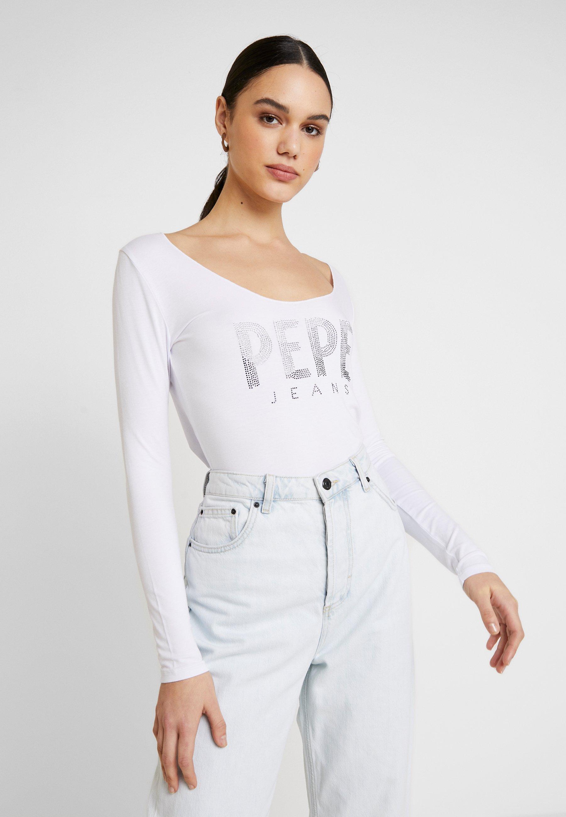 Pepe Jeans CALISSA - Topper langermet - optic white