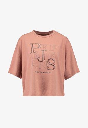 CATHERINE - T-shirt z nadrukiem - cinnabar