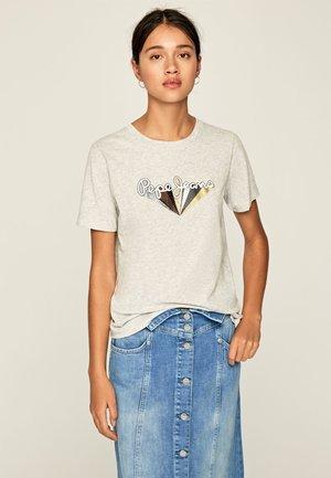 BRIONI - Print T-shirt - gris marl