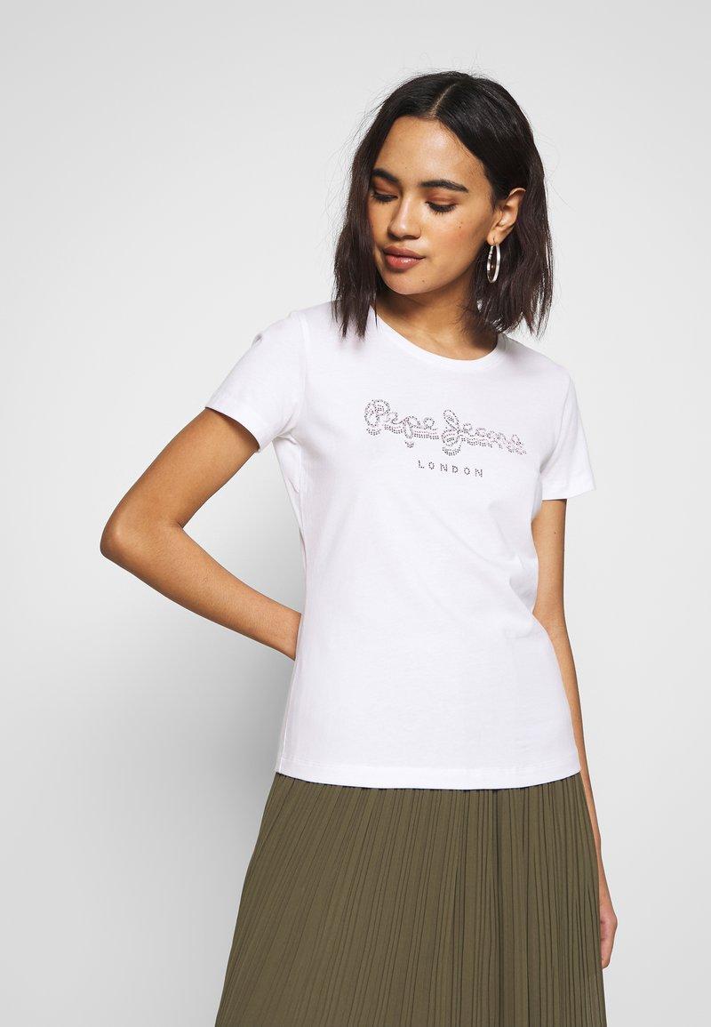 Pepe Jeans - BEATRICE - T-shirt z nadrukiem - optic white