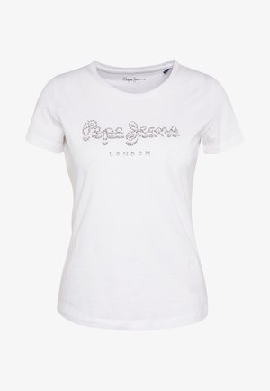 BEATRICE - Camiseta estampada - optic white
