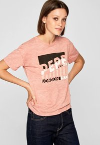 Pepe Jeans - CAMEO - Print T-shirt - ash rose - 0