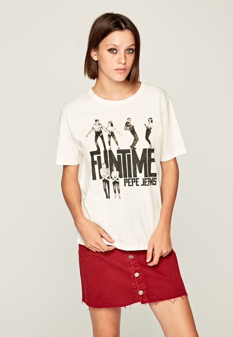 Pepe Jeans - Print T-shirt - off-white