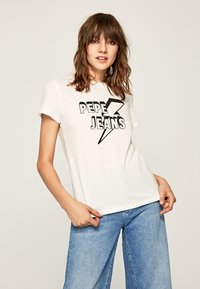 Pepe Jeans - CLOVER - T-Shirt print - off-white - 0
