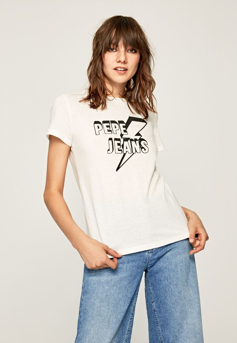 Pepe Jeans - CLOVER - T-Shirt print - off-white