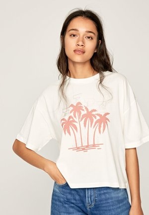 LILLIE - Print T-shirt - off-white