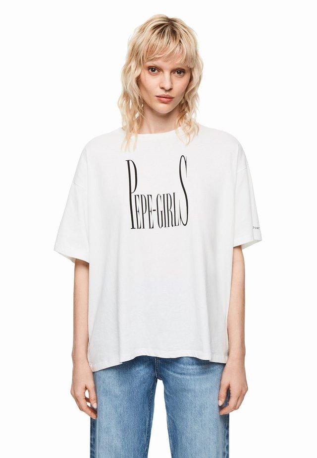 DUA LIPA X PEPE JEANS  - Camiseta estampada - off-white