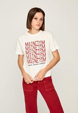 CASSANDRA - Print T-shirt - off-white
