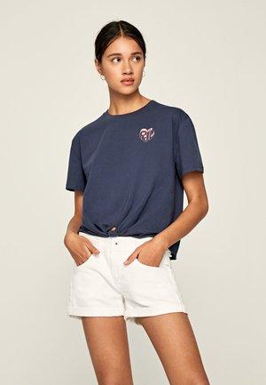 FLEUR - Print T-shirt - alt blau