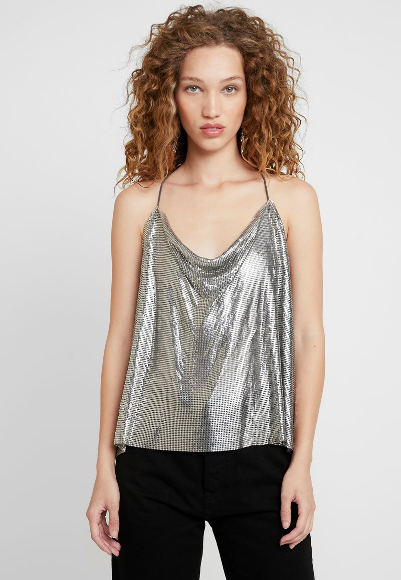 Pepe Jeans - DUA LIPA X PEPE JEANS  - Top - silver-coloured