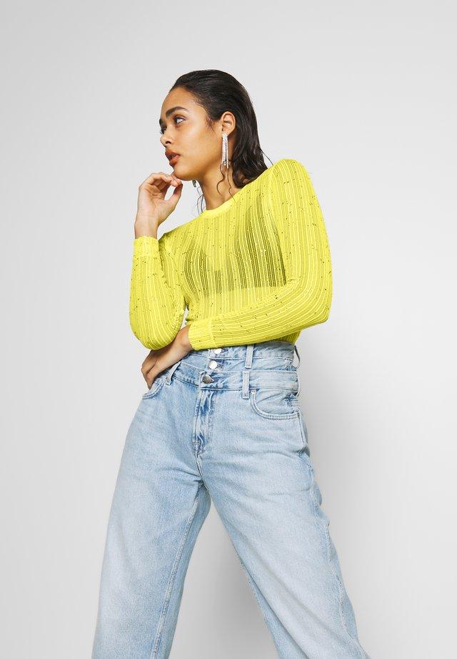 DUA LIPA x PEPE JEANS - Bluzka z długim rękawem - lemon