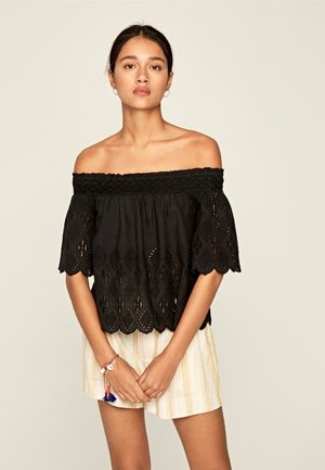 LUNA - Blouse - black