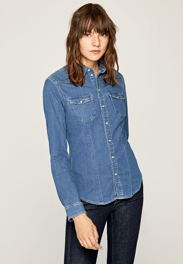 ROSIE - Button-down blouse - blue denim