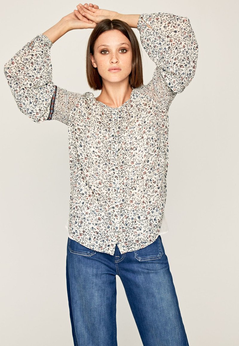 Pepe Jeans - SIRENE - Blouse - off-white/blue