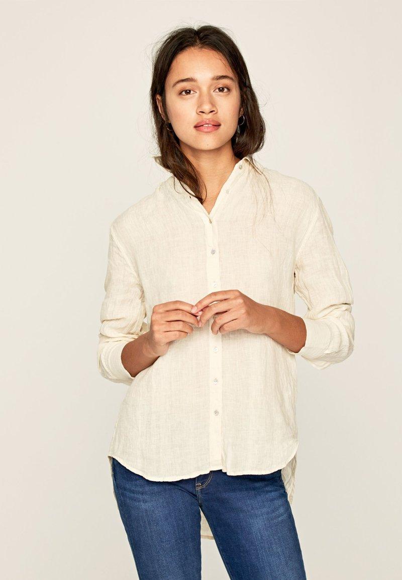 Pepe Jeans - BELLA - Button-down blouse - white