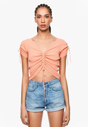DUA LIPA X PEPE JEANS  - Camiseta estampada - burnt orange