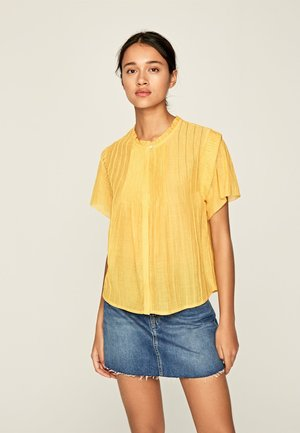 DOMINIKA - Button-down blouse - mustard yellow