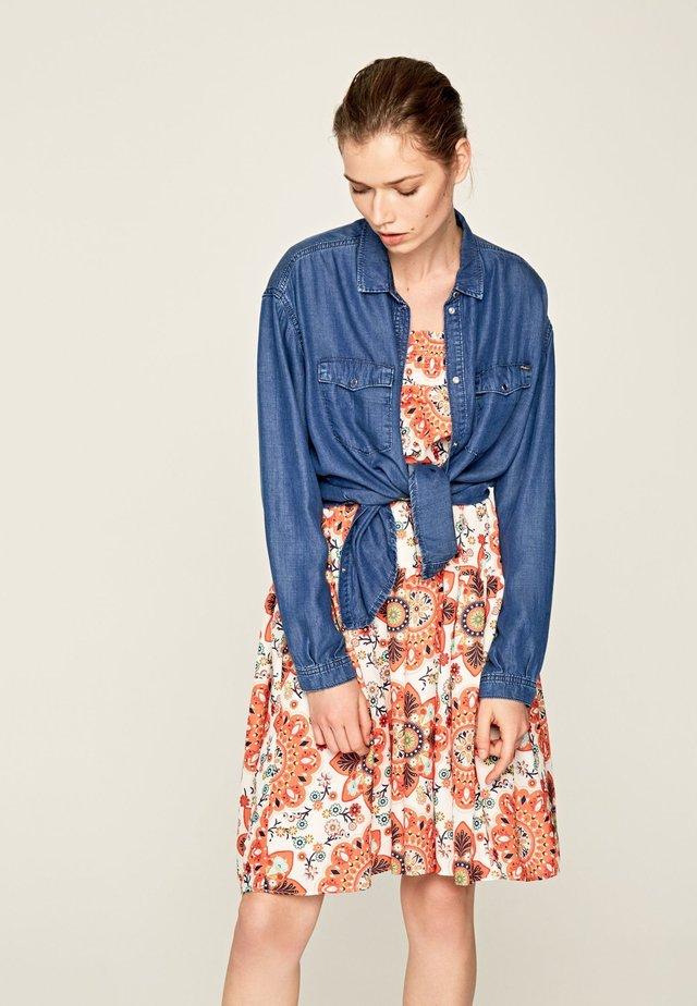 MAVIS - Button-down blouse - blue denim
