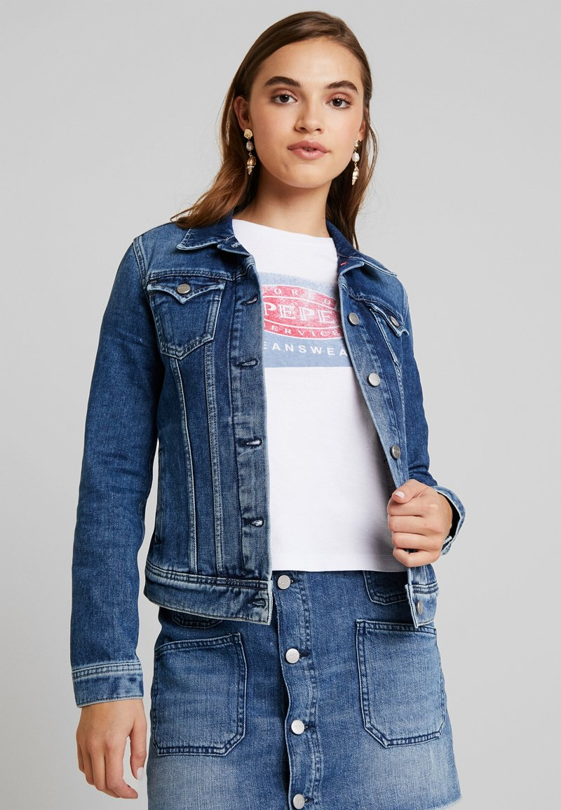 Pepe Jeans - THRIFT - Veste en jean - denim dark