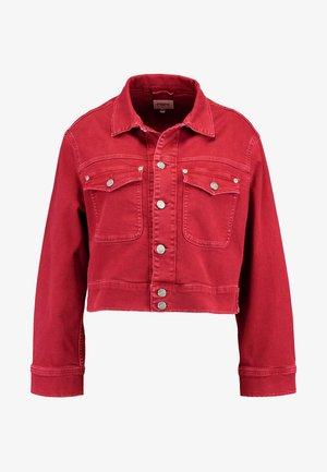 TIFFANY - Džínová bunda - pillarbox red