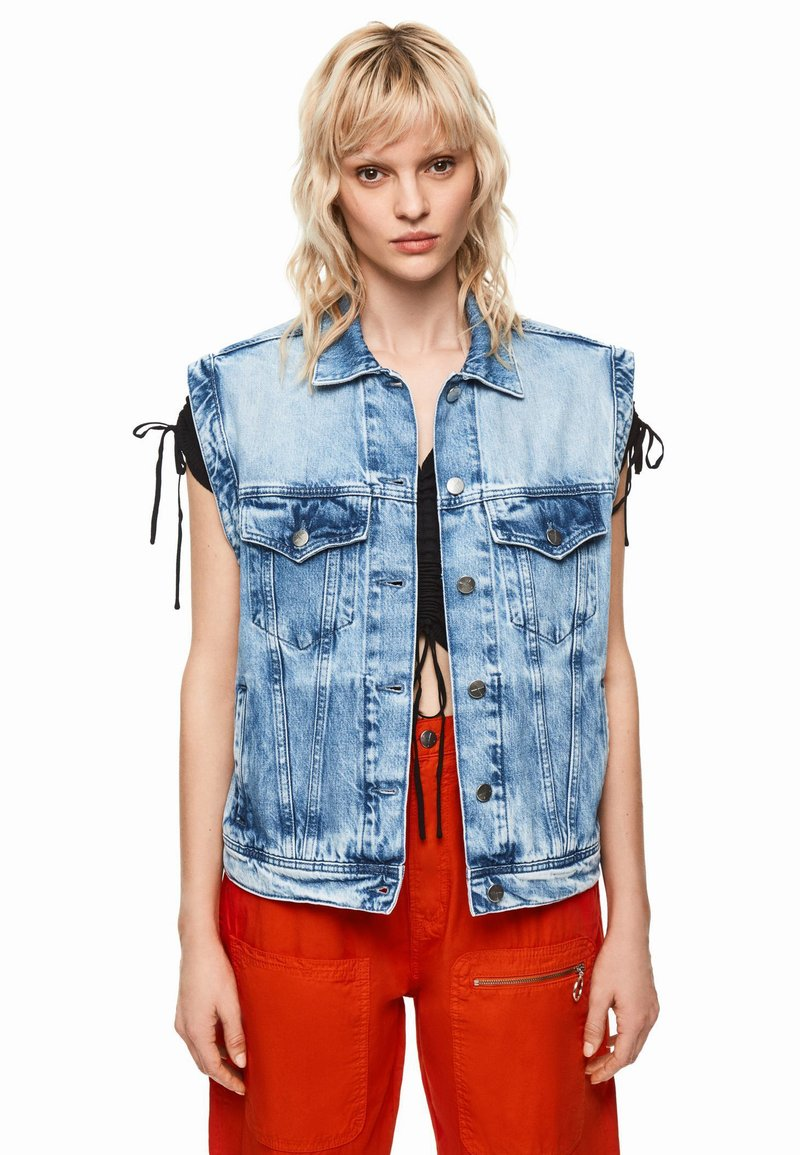 Pepe Jeans - DUA LIPA X PEPE JEANS  - Smanicato - blue denim