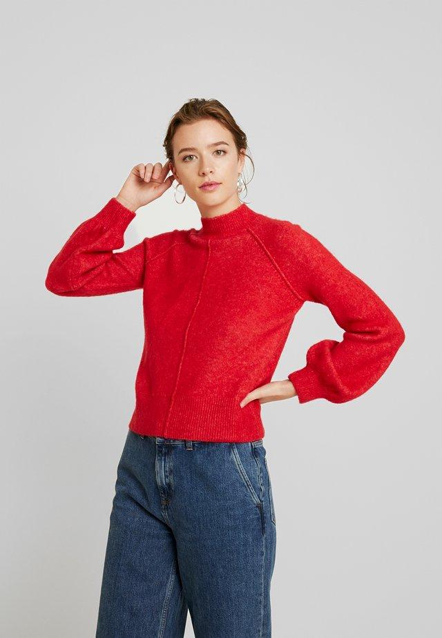 CLOTILDE - Strikkegenser - lipstick red