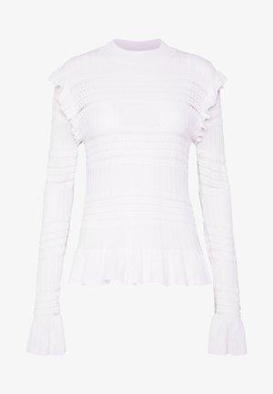 OLIVIA - Stickad tröja - white