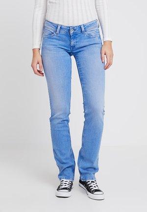 KATI LOW STRAIGHT - Straight leg jeans - light-blue denim