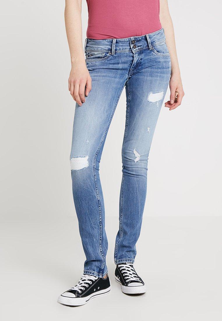 Pepe Jeans - LADIES EDITION PANT - Jeans slim fit - destroyed denim
