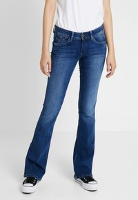 Pepe Jeans - PIMLICO - Flared jeans - denim dark used - 0