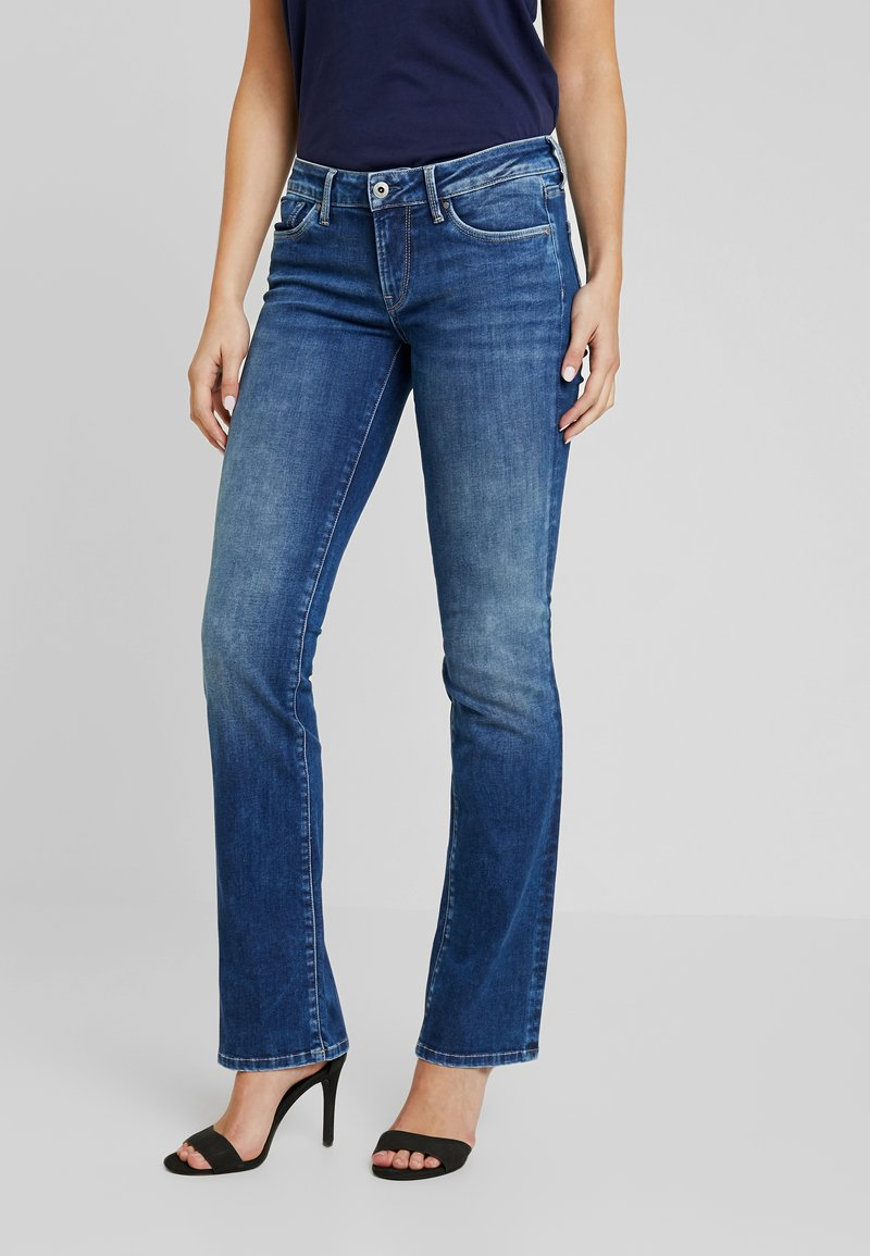 Pepe Jeans - PICCADILLY - Bootcut jeans - denim dark used