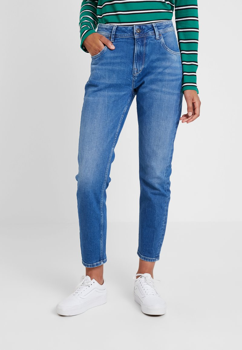 Pepe Jeans - VIOLET - Džíny Relaxed Fit - denim medium used