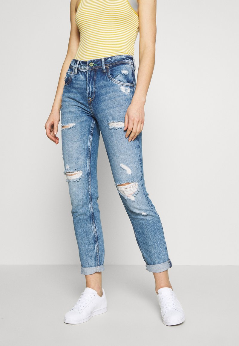 Pepe Jeans - VIOLET - Jeansy Relaxed Fit - destroyed denim