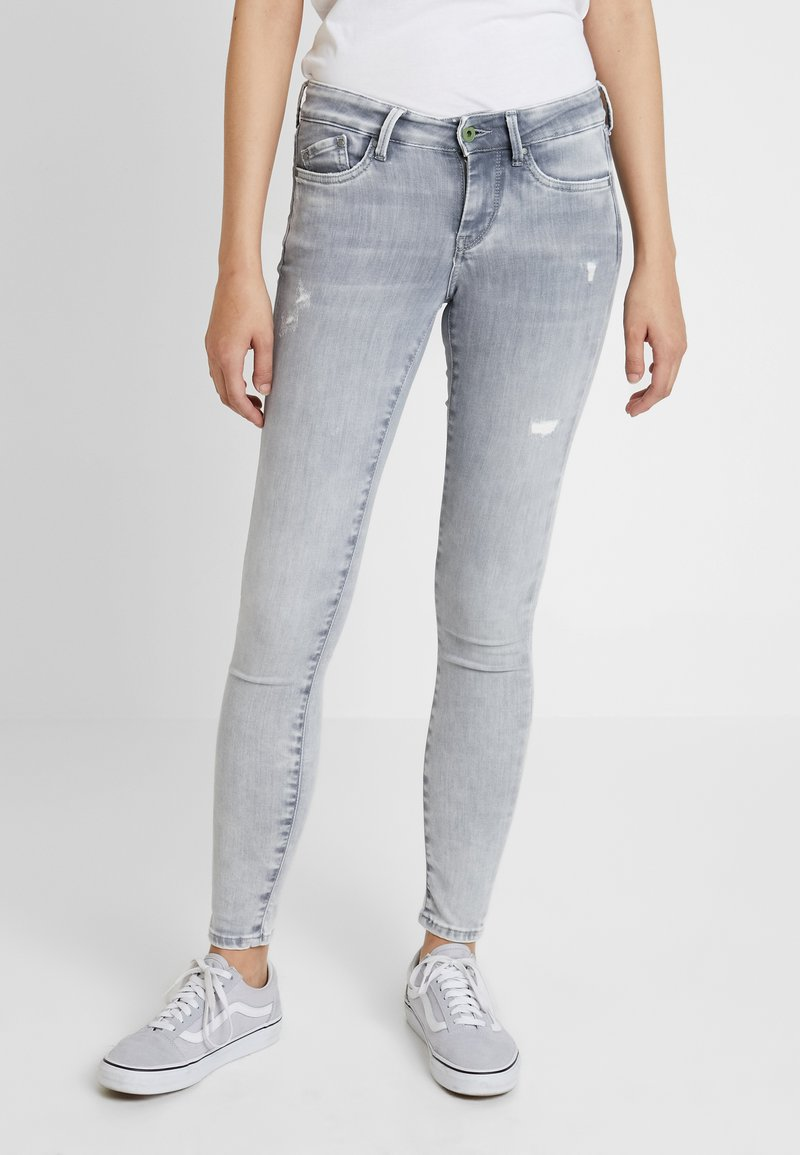 Pepe Jeans - PIXIE - Jeans Skinny Fit - denim grey destroy wiser wash
