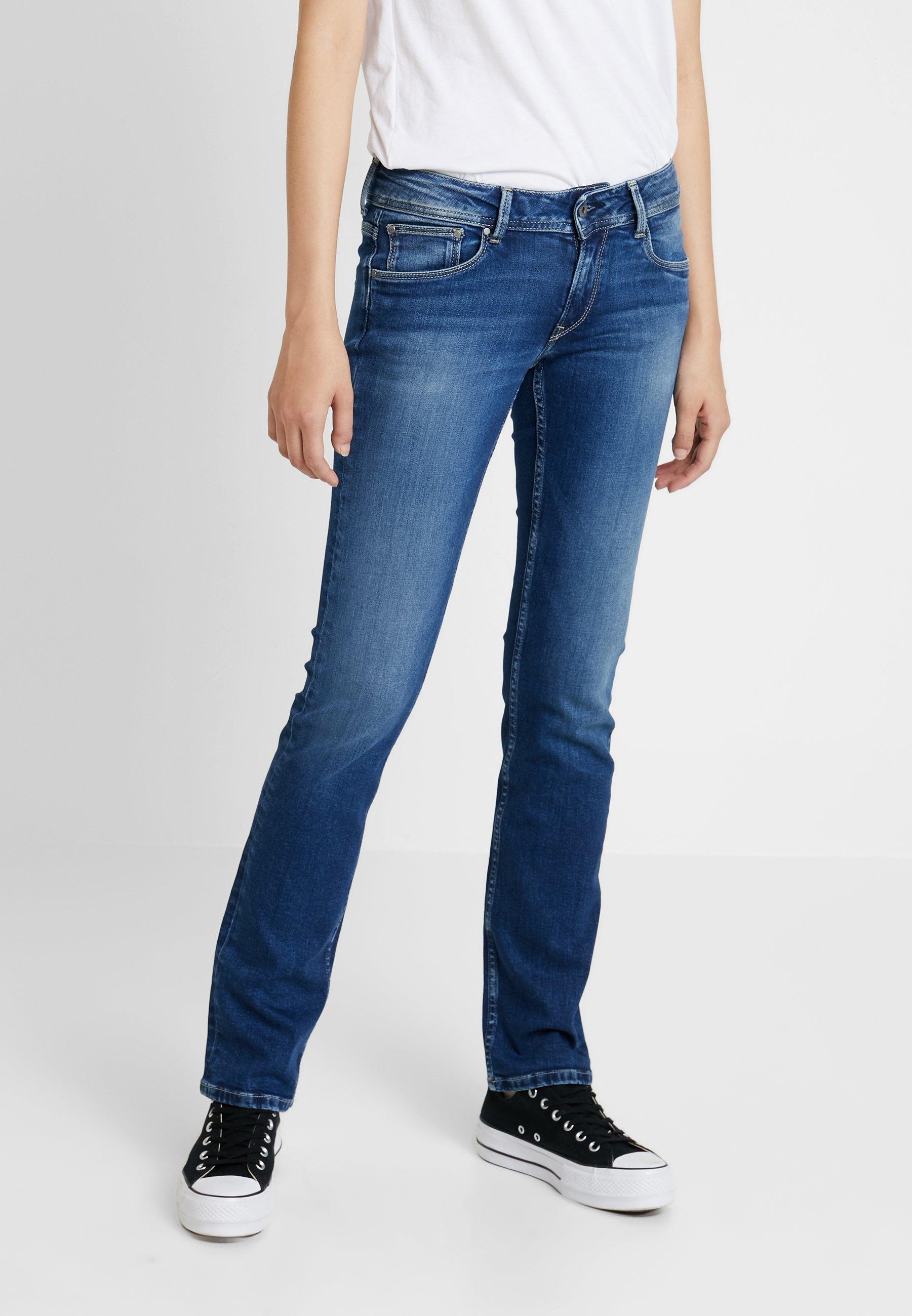 Blue Denim Droit Stone Jeans Pepe HollyJean rxedBoCW