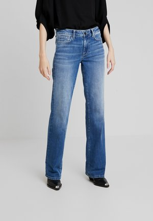 AUBREY - Flared Jeans - stone blue denim