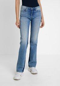 Pepe Jeans - AUBREY CONTRAST - Flared Jeans - stone blue denim - 0