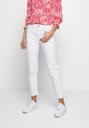 MARY - Jeansy Straight Leg - white denim