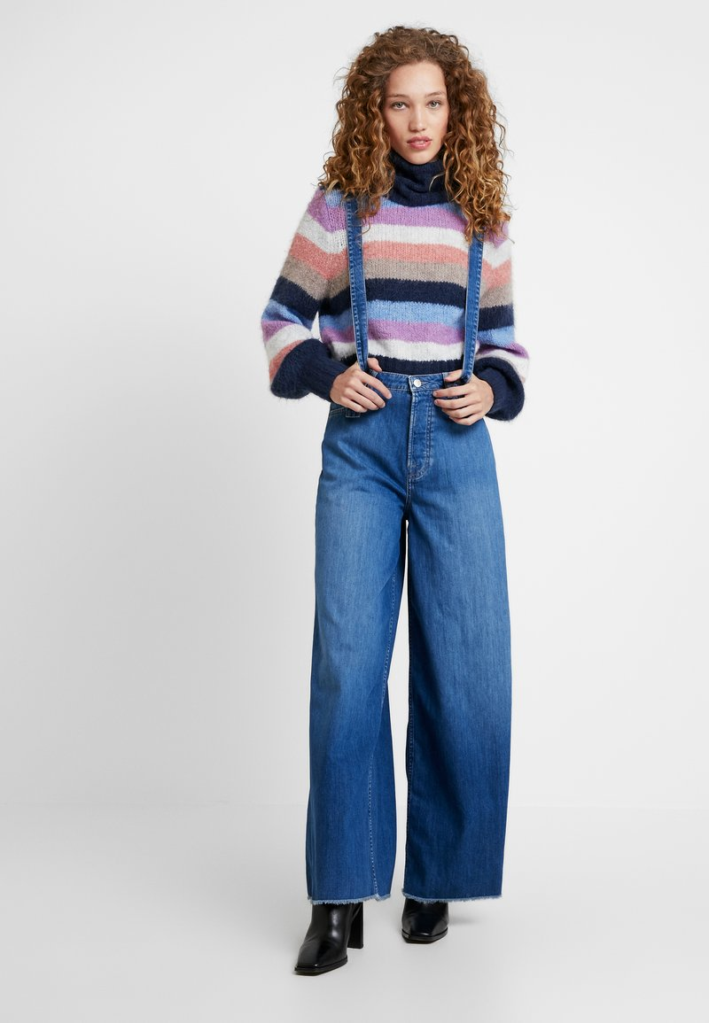 Pepe Jeans - DUA LIPA X PEPE JEANS - Široké džíny - blue denim