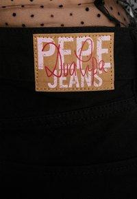 Pepe Jeans - DUA LIPA X PEPE JEANS - Džíny Straight Fit - black - 4