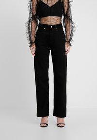 Pepe Jeans - DUA LIPA X PEPE JEANS - Džíny Straight Fit - black - 0