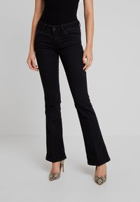 Pepe Jeans - NEW PIMLICO - Flared Jeans - black - 0