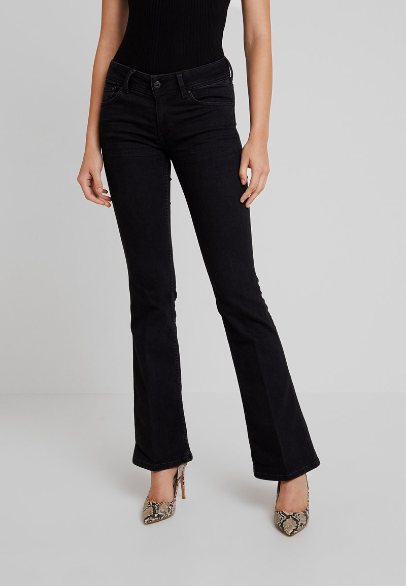 Pepe Jeans - NEW PIMLICO - Flared Jeans - black