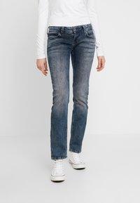 Pepe Jeans - KATI - Straight leg jeans - bluegrey used - 0