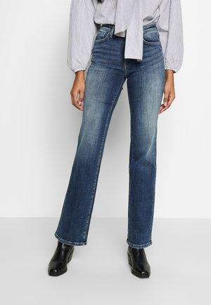 AUBREY - Straight leg jeans - dark-blue denim