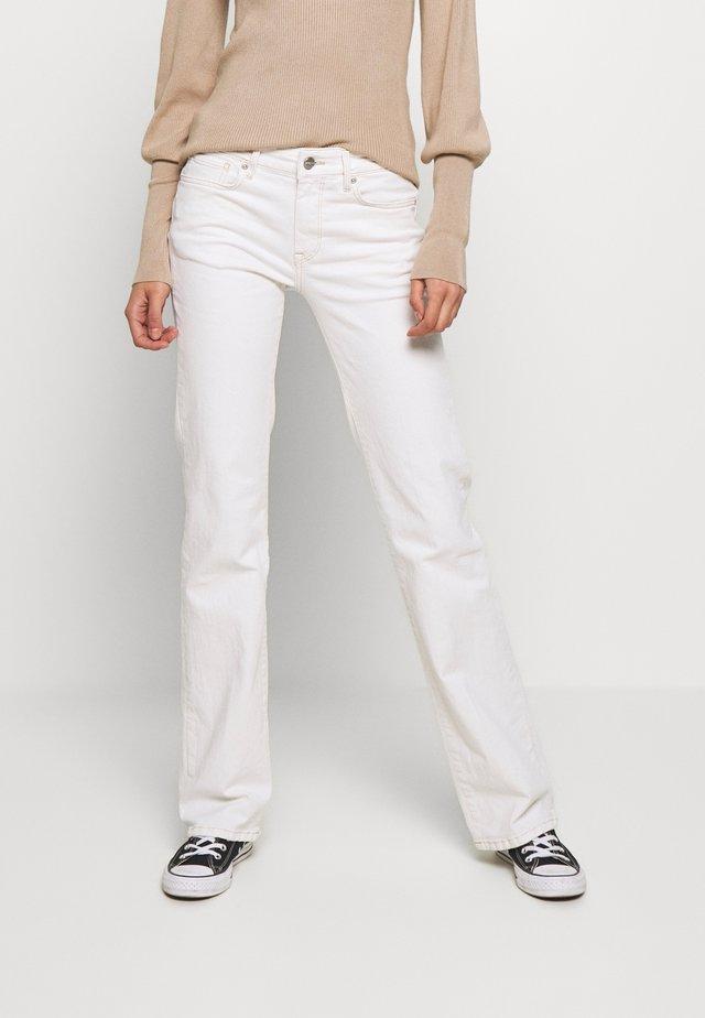 AUBREY - Jeans straight leg - white denim