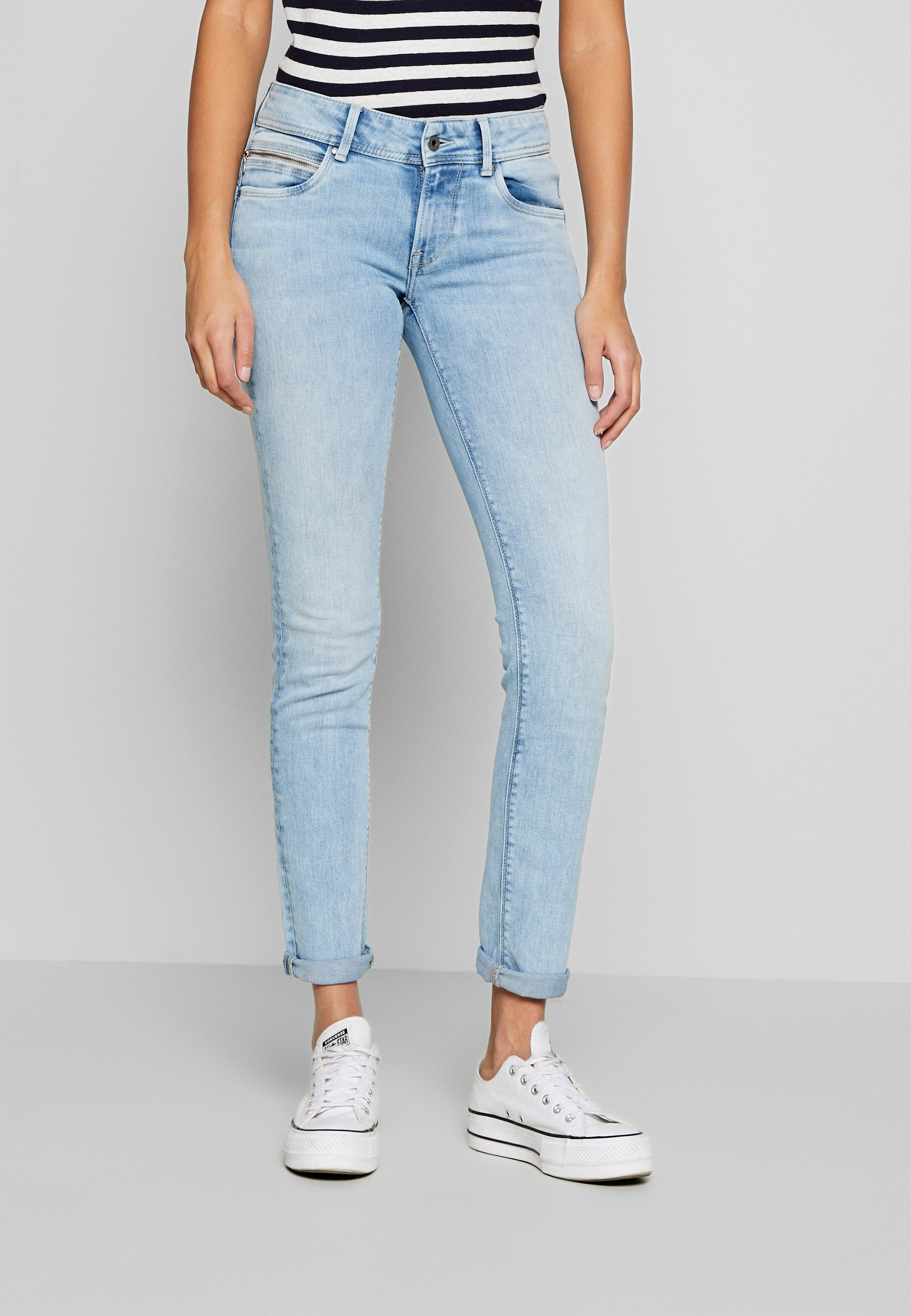Pepe Jeans KATHA - Jeansy Slim Fit - light-blue denim